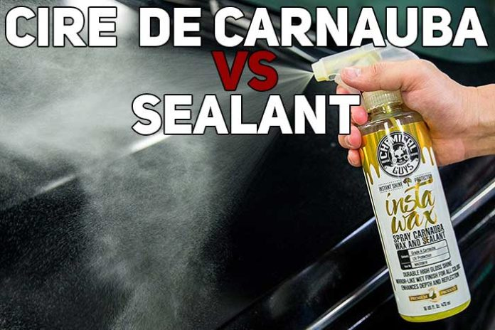difference cire de carnauba sealant synthétique
