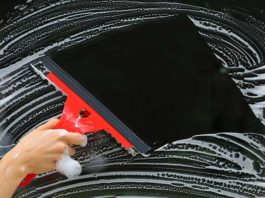 raclette squeegee detailing voiture