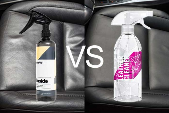 leather cleaner de gyeon vs inside de carpro comparatif. Black Bedroom Furniture Sets. Home Design Ideas