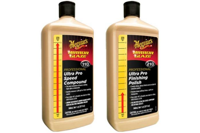 test meguiars m110 m210 compound polish