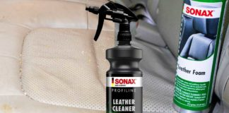 test sonax leather foam cuir voiture
