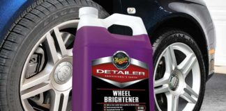 meguiars wheel brightener test