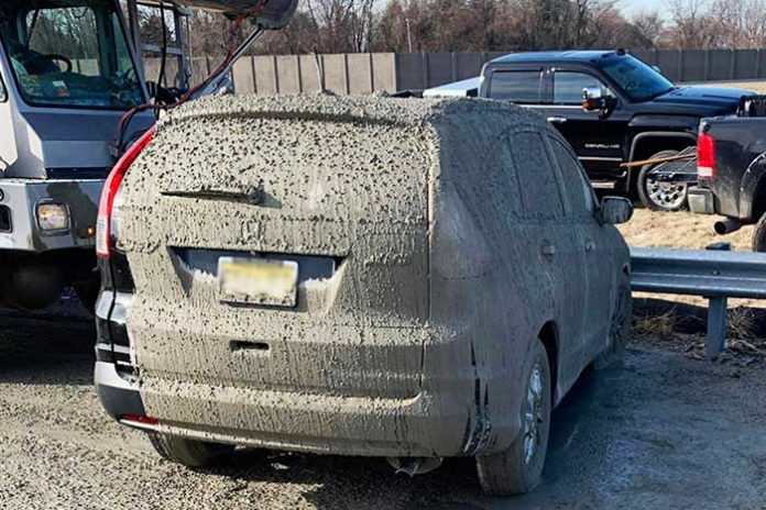 supprimer ciment peinture voiture